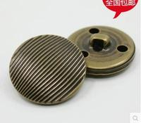 Classic seiko copper stripe high-grade bronze sheet metal button garment accessories DIY buttons 100pcs/lot