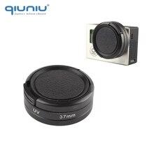 QIUNIU نفاذية عالية 37 مللي متر UV تصفية مع حامي عدسة غطاء ل GoPro بطل 4 3 3 + 3 ل GoPro اكسسوارات