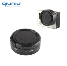 QIUNIU High Transmittance 37mm UV Filter with Lens Protector Cap for GoPro Hero 4 3+ 3 For GoPro Accessories