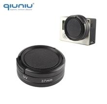 Qiuniu gopro hero 4 용 렌즈 보호 캡이있는 높은 투과율 37mm uv 필터 gopro 액세서리 용 3 + 3