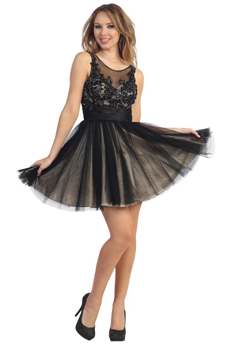 Tulle Cute Homecoming Dresses Scoop