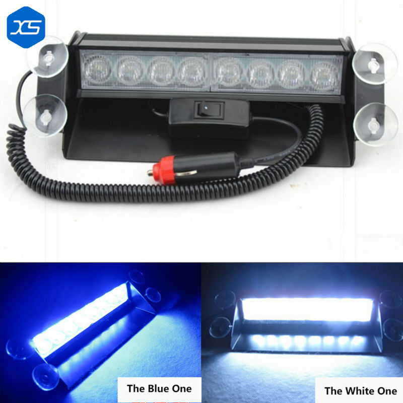 1* 8W Windshield Led Strobe Light Car Flash Signal Emergency Fireman Police Warning Light Red Blue Yellow,Emergency Strobe Light strobe light flash emergency light windshield light s2 led emgergency strobe police flash light