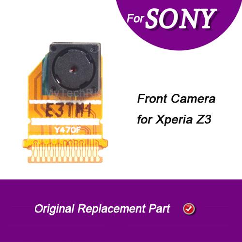 Para sony xperia z3 cámara frontal original; oem frontal frente a la cámara de repuesto para sony xperia z3 d6643 d6603 d6616 d6653 teléfono