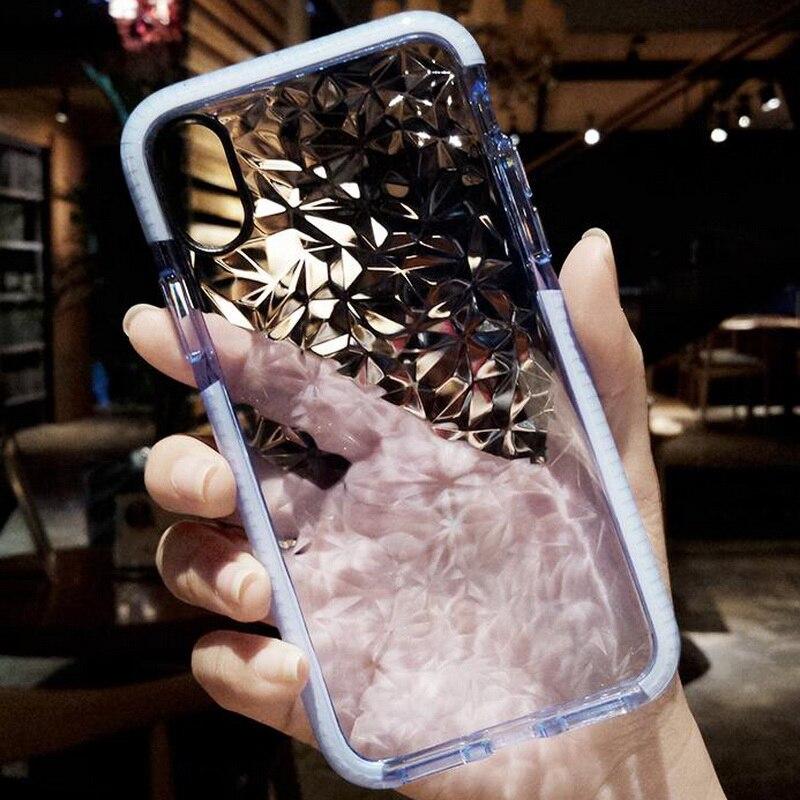 Fashion Diamond Grain Style Phone Case For iPhone X 10 7 8 6 6S Plus Soft TPU Anti-skid Cover For Samsung Galaxy S8 S9 Plus Capa