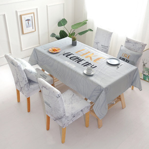 Image 4 - Christmas Deer Waterproof Tablecloth Wholesale Table Cloth Wedding Party Home Hotel Decoration Table Chair Covers Set
