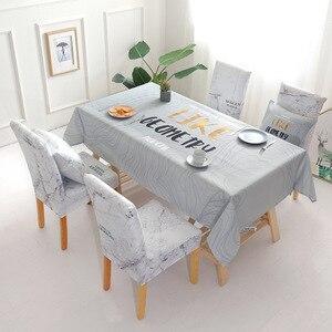 Image 4 - Noel geyik su geçirmez masa örtüsü toptan masa örtüsü düğün ev otel dekorasyon masa sandalye seti