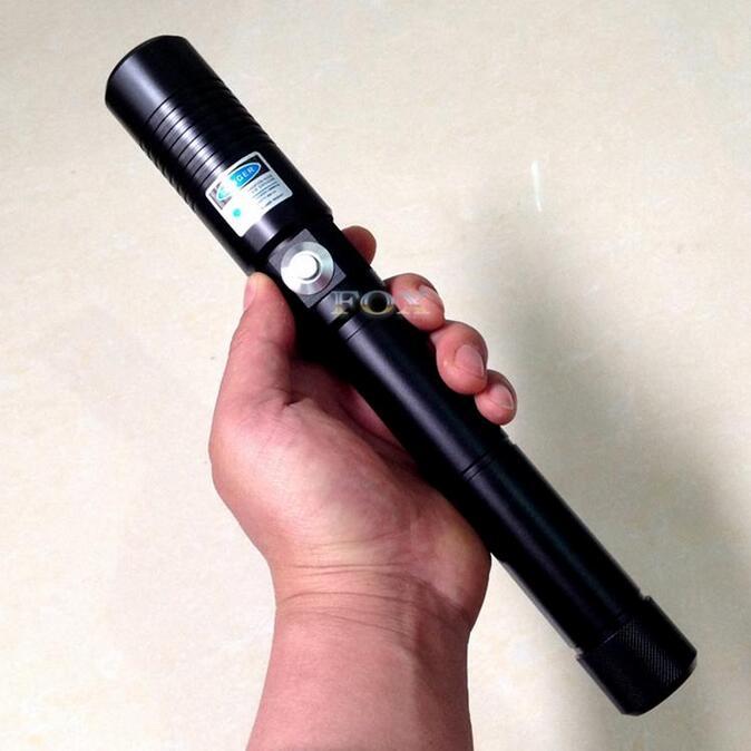 Puissant 5000000 m 450nm Combustion Bois Bleu Stylo Laser Focusable De Poche Bleu Laser Pointeur Flambeau allumé cigarette + chargeur + lunettes