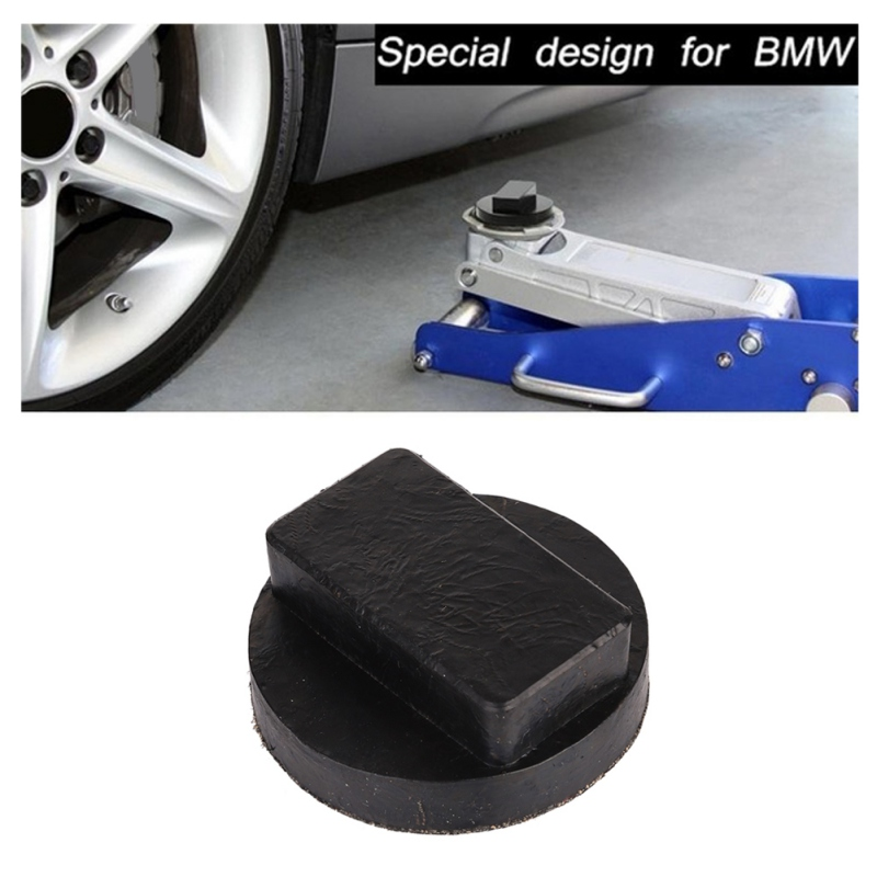 Car Jack Pad Rubber Disc Pad Auto Vehicle Weld Jacking Lifting Disk Frame Protector Rail Floor Slotted Car Jack Guard Tool