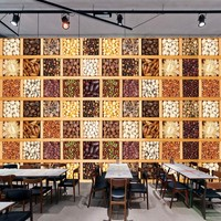 Free Shipping 3D Stereo Grain Grill Hot Pot Restaurant Hotel Mural High Quality Kitchen Wallpaper Custom