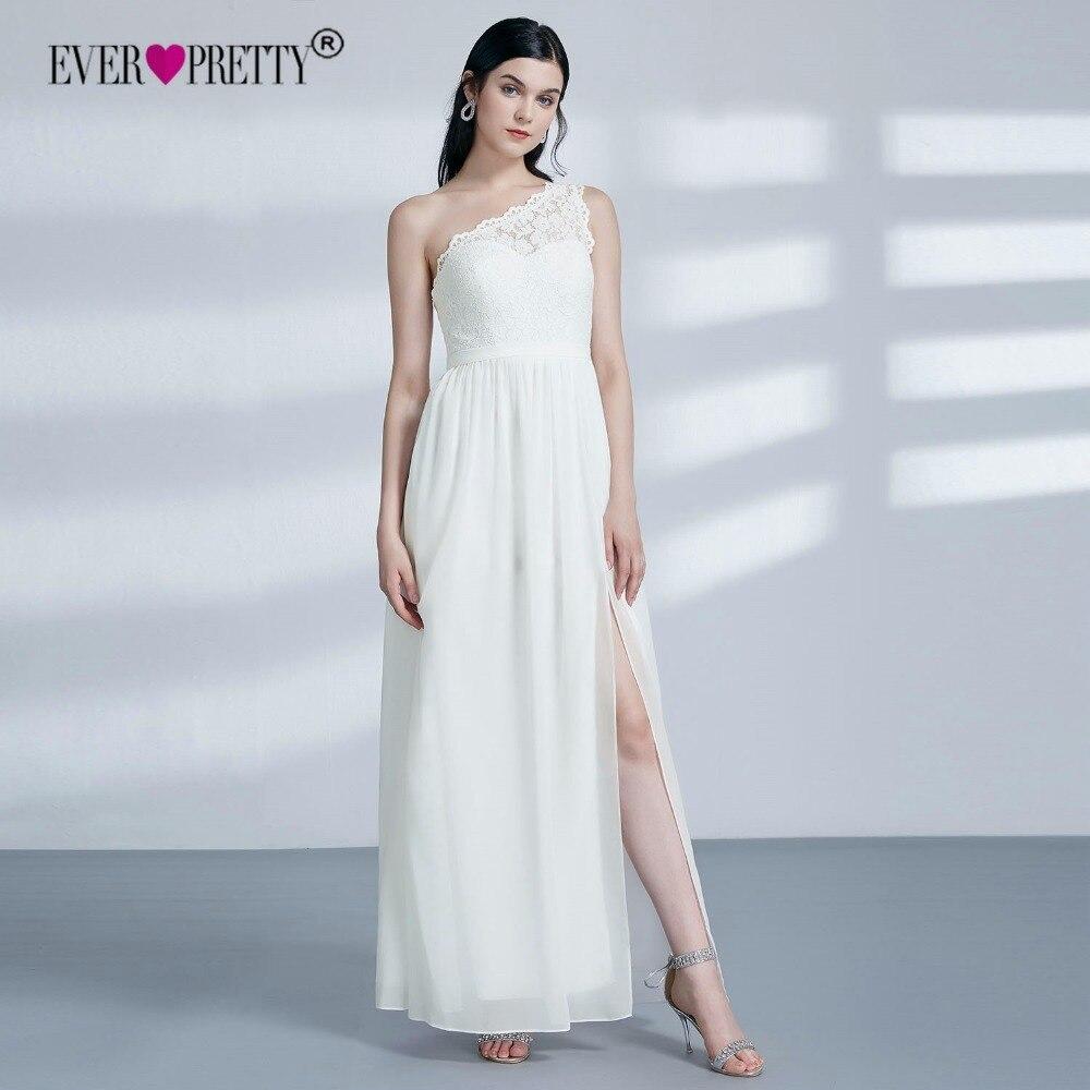 Ever Pretty Lace Bridesmaid Dresses New Elegant A Line One Shoulder ...