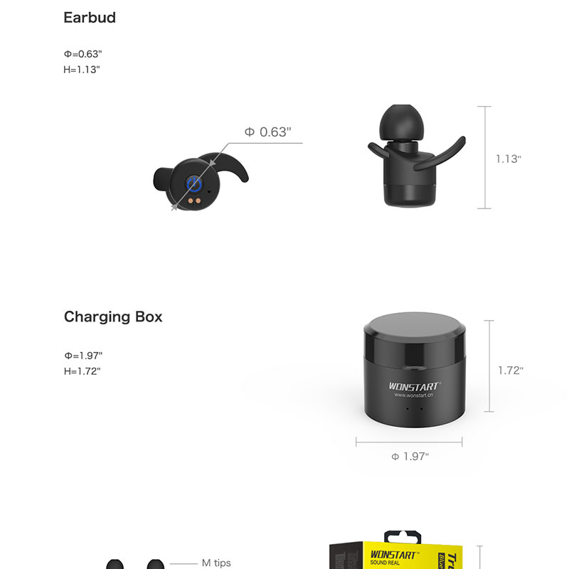 Mini Wireless Bluetooth Earphones Sport Wireless Bluetooth Earbuds With Microphone For Cell phone Wonstart W302