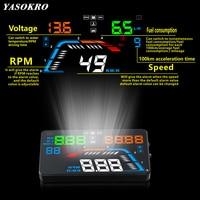 5.5'' OBDII Car HUD OBD2 Port Head Up Display Q700 Car Speedometer Windshield Projector Over Speed Voltage Alarm Car Accesories