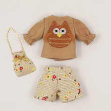 Neo Blythe Doll Owl Outfits With Floral Pants & Bag