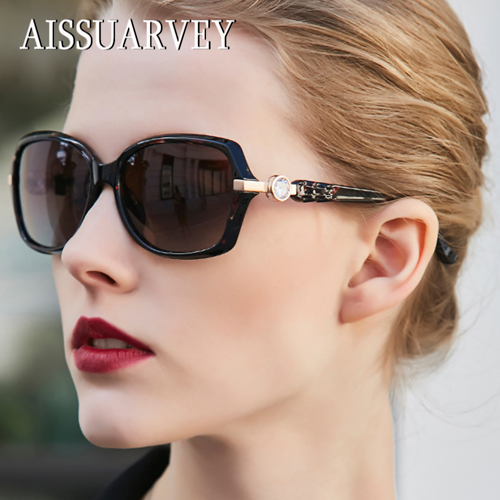 2019 Rhinestone Small Acetate Fashion Polarized Sunglasses for Women Top Quality Girls Lady Brand Goggles Driving