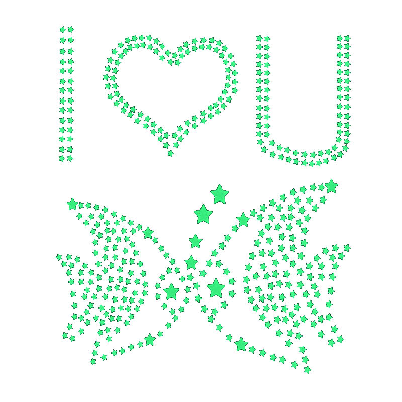 100PCS 3D stars Fluorescent plastic stickers DIY fluorescent stickers Free splicing graphics Fluorescence luminescence in Stickers from Toys Hobbies