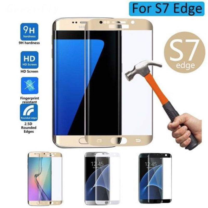 3D Full coverage protective glass on the for samsung galaxy S7 Edge S8 Plus screen protective