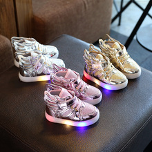Girls baby shoes glowing sneakers kid Boys Girls LED