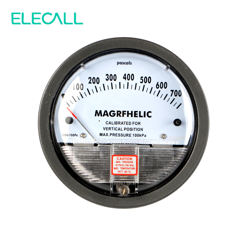 ELECALL Micro Differential Pressure Gauge TE2000 0-750PA High Precision 1/8