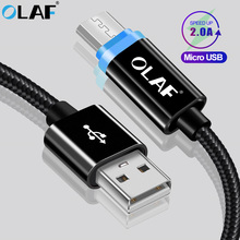 OLAF Micro USB Cable LED Light Fast Charging USB Type C Cabl