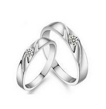 MSF brand JZ006 high quality 925 sterling silver + platinum plated AAA lover`s rings jewelry free shipping