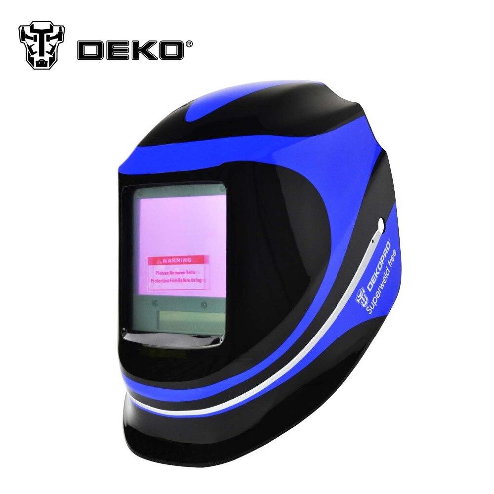 dekopro large view solar auto darkening mig mma electric welding mask helmet welder cap welding. Black Bedroom Furniture Sets. Home Design Ideas