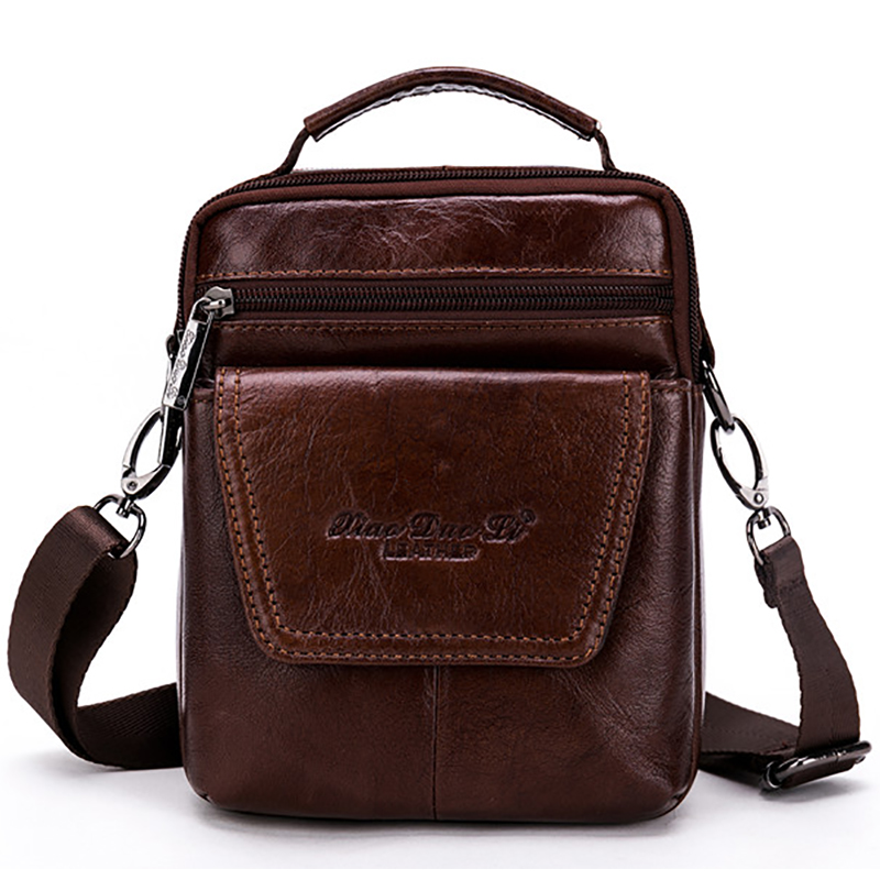 High Quality Genuine Leather Shoulder Messenger Crossbody Bags For Men Real First Layer Cowhide Vintage Small Tote Bag Handbag high quality vintage first layer 100% genuine leather men messenger bags handbag crossbody bag men s shoulder bags travel bag