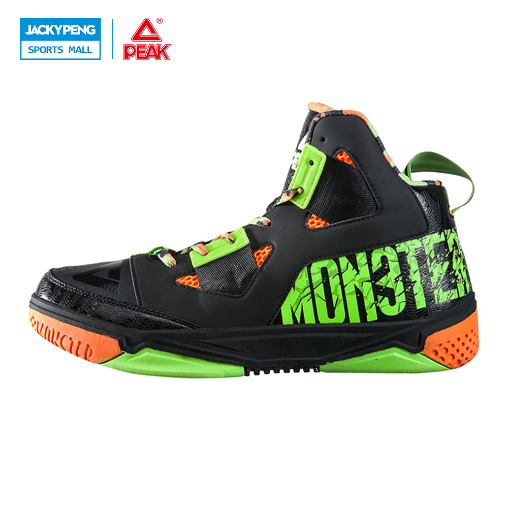 PEAK SPORT Monster Concept Models Men Basketball Shoes FOOTHOLD Tech Competitions Boots Breathable Athletic Training Sneakers peak sport star series george hill gh3 men basketball shoes athletic cushion 3 non marking tech sneakers eur 40 50