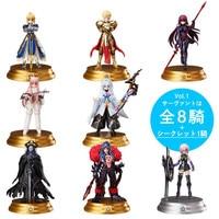 8pcs/set Cartoon Anime Action Figure Fate Grand Order Mini Saber Gilgamesh Cu Chulainn Q Ver Model PVC Decoration Gift Doll 6cm