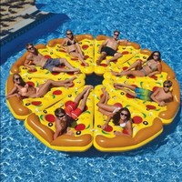 Adult Inflatable Pizza Shape Swimming Rings with 180X155CM Floats Water Rings for Inflatable Pool Float Holiday Toys Swim Ring