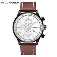 2018 CUENA Watches Men Luxury Brand Chronograph Men Sports Watches Waterproof Quartz Men Quartz Watches Stainless