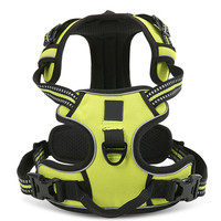 2016 Fluorescent Colors Oxford Large Dog Pet Outdoor 3M Reflective No Pull Padded Harness Vest With