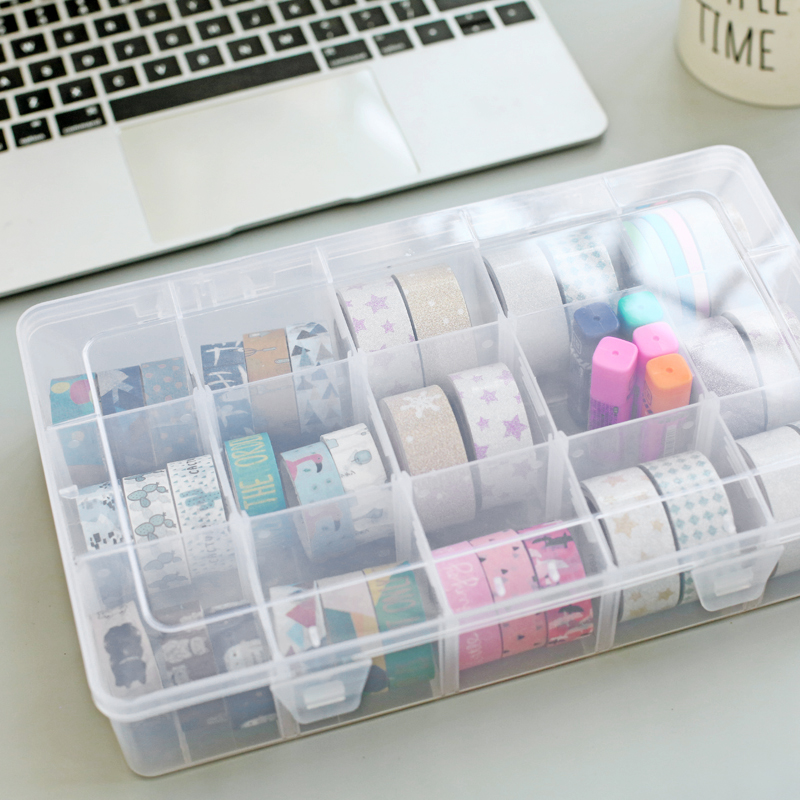 Dokibook PP Transparent Washi Tape Storage Box Washi Tape Set Tools Scrapbooking Sticker Storage Stationery Accessories Supplies