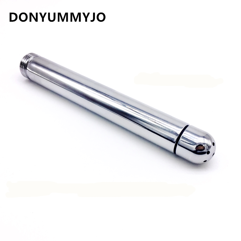 1Pcs Rushed Anal Douche Shower Cleaning Enemator With 3 Styles Head Plug Enema Metal Anal Cleaner Butt Plugs Sex Toys line art