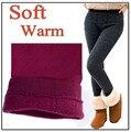 Mujeres libres del envío pantalones de cachemir cálido invierno de Las Mujeres espesa legging caliente del invierno de Las Mujeres solid leggings