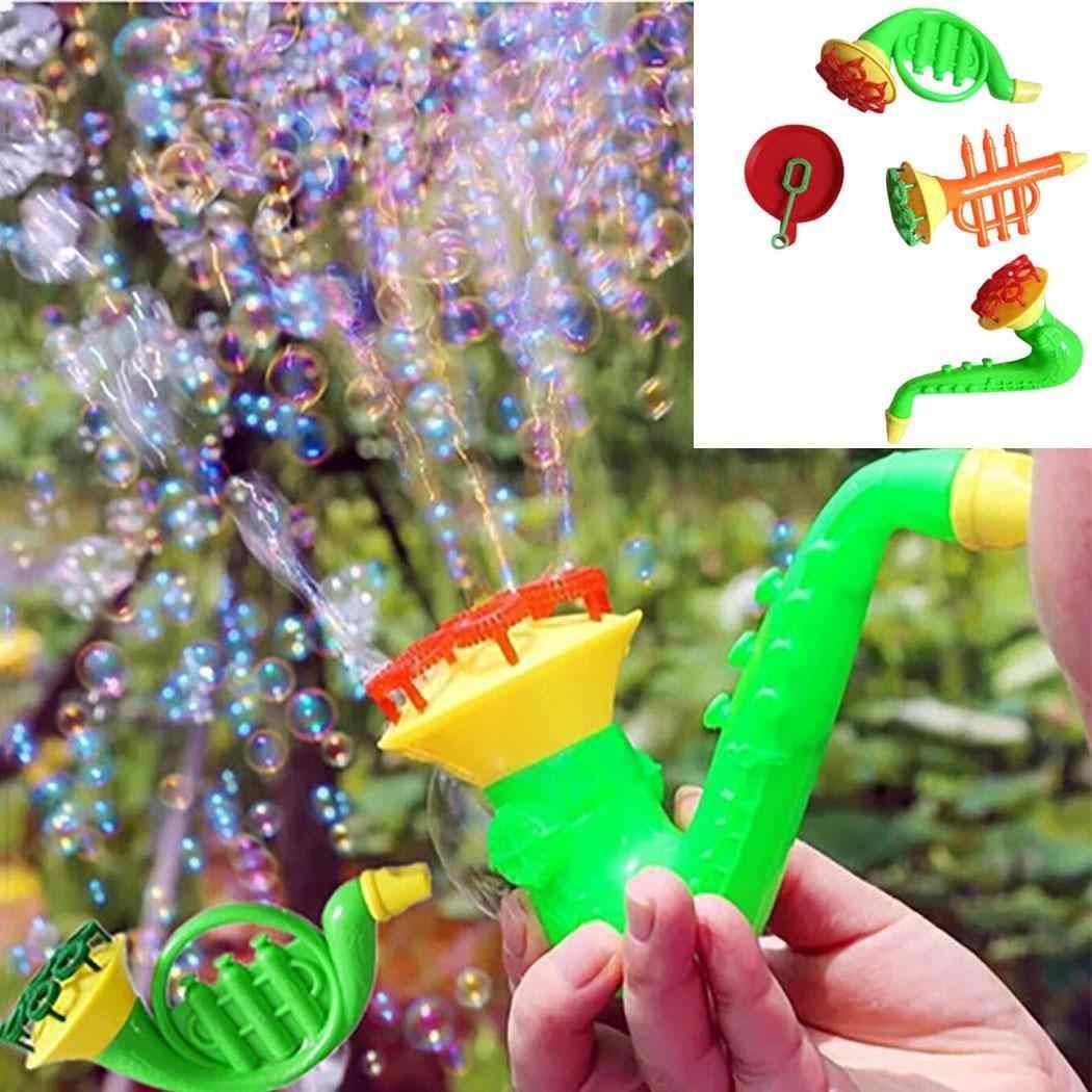 Детский игрушечный рожок в форме воды (без жидкости), повседневный пистолет для мыльных пузырей, игрушка в виде пузырьков, выдувные случайные игрушки детские подарки, Новинка