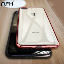 NFH Clear Soft Silicone phone case for iPhone