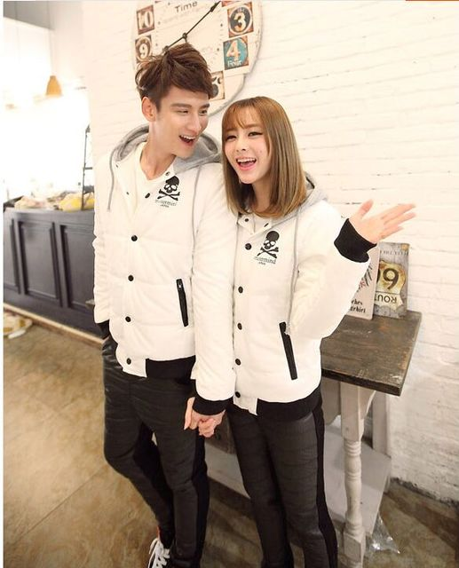 984838f12b71 winter coat thick down jacket couple of good quality skull lady down ...