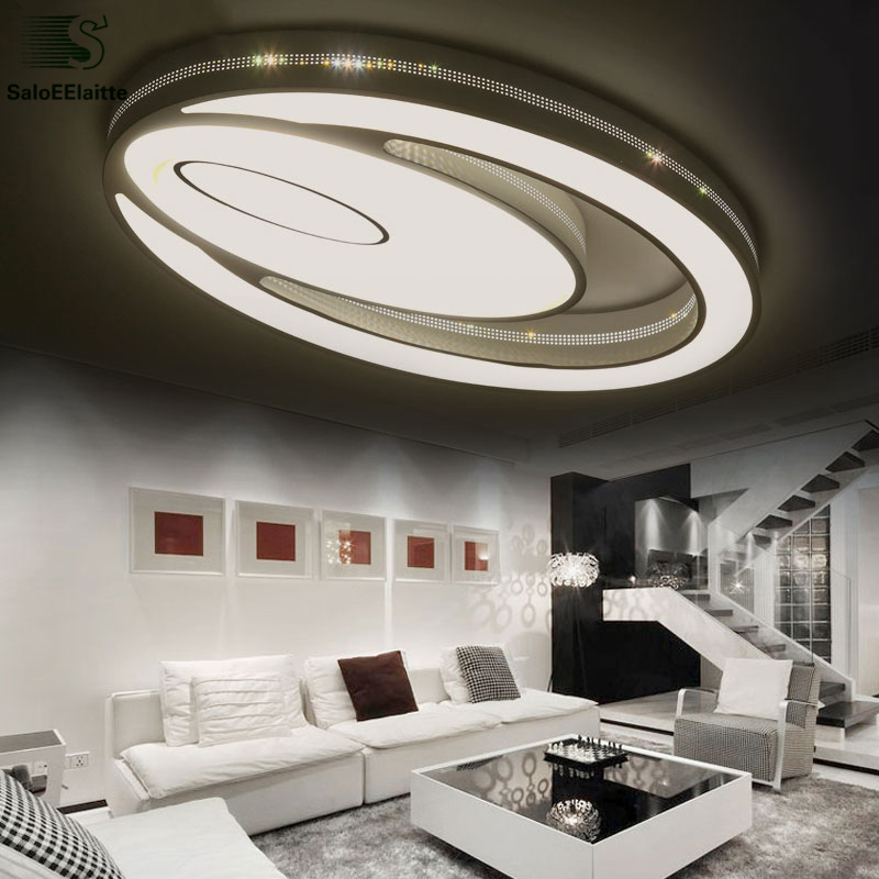 US $144.23 18% OFF Nordic Ellipse Metall Dimmbare Led deckenleuchte  Einfache Acryl Wohnzimmer Led deckenleuchte Schlafzimmer Führte  Deckenbeleuchtung ...