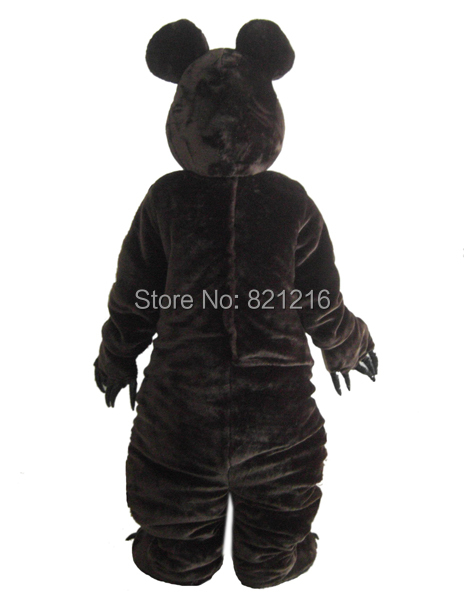 Bear  Mascot Costume Dark Brown Bear Classical Cartoon Character Outfit Suit for Halloween party event