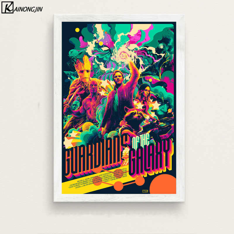 Posters and Prints Guardians Of The Galaxy Poster Marvel Movie Canvas Painting Wall Art Picture for Living Room Home Decor