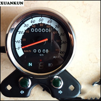 XUANKUN Cafe Racer Vintage Motorcycle GN Modified Instrument Odometer Watch With A Table