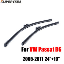 цена на 24''+19'' Pair Windscreen Wiper Blades For VW Passat B6 3C Estate Variant ,Fit Windshield Rubber Wipers Arm,Car Accessories
