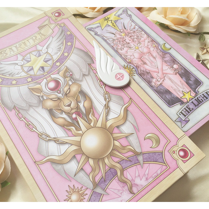 56 pcs Card Captor Sakura Cards With Pink Clow Magic Book Set New 2017 new cards 42pcs set poke go mons card game english anime pokemoned cards with metal box best toy for children free shipping