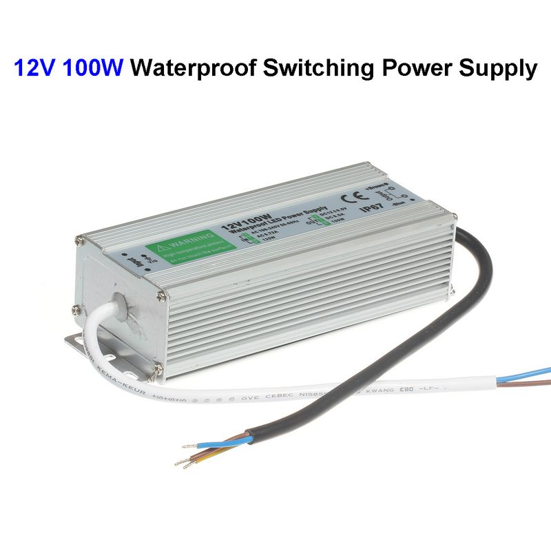 15pcs DC12V 100W Waterproof Switching Power Supply Adapter Transformer For 5050 5730 5630 3528 LED Rigid Strip Light led driver ac 100 240v to dc 12v 5a power supply charger adapter transformer 220 v 12 v converter for 5050 3528 led strip light