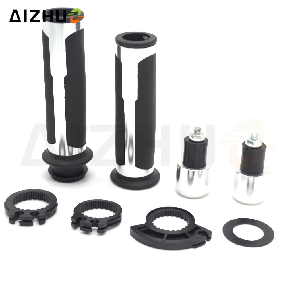 22mm Motorcycle Handle Grips CNC Aluminum Rubber Grips For Yamaha YZF R1 R3 R6 R15 R125 YBR 125 YZ 125 MSX 125 XJR FJR 1300 MT