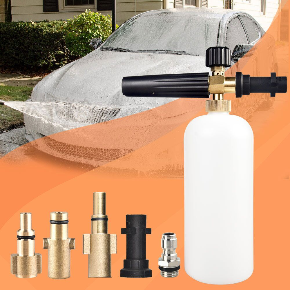 "Foam Gun High Pressure for Karcher K2 - K7 Series Snow Foam Lance Professional Foam Generator Car Washer 1/4"" Quick Release"