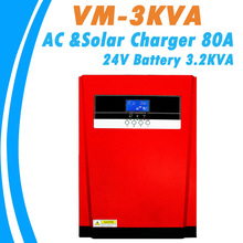 3200W Pure Sine Wave Solar Hybrid Inverter MPPT 80A Solar Panel Charger and AC Charger All in One for Max 4000W 500V Solar Input
