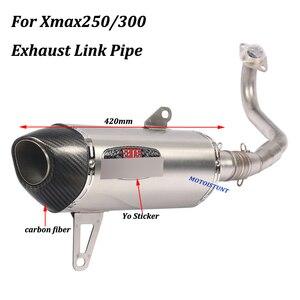 Image 5 - Sistema de Escape completo para motocicleta Yamaha Xmax250 Xmax300, tubo de conexión Frontal Medio de acero inoxidable, antideslizante