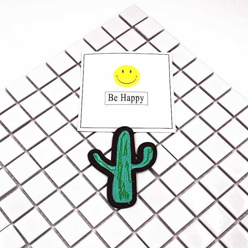1 шт. растения цветы кактус дерево вышитые патчи железа на патчи для одежды DIY ремонт значки Аксессуары детский подарок