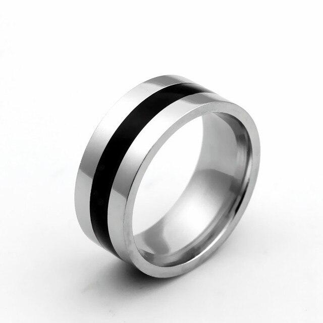 Le Bsiser Mode Fur Manner Titan Stahl Finger Ringe Herren Partei
